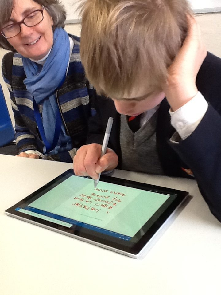 Training with WordQ4 on Surface Pro, January 2018