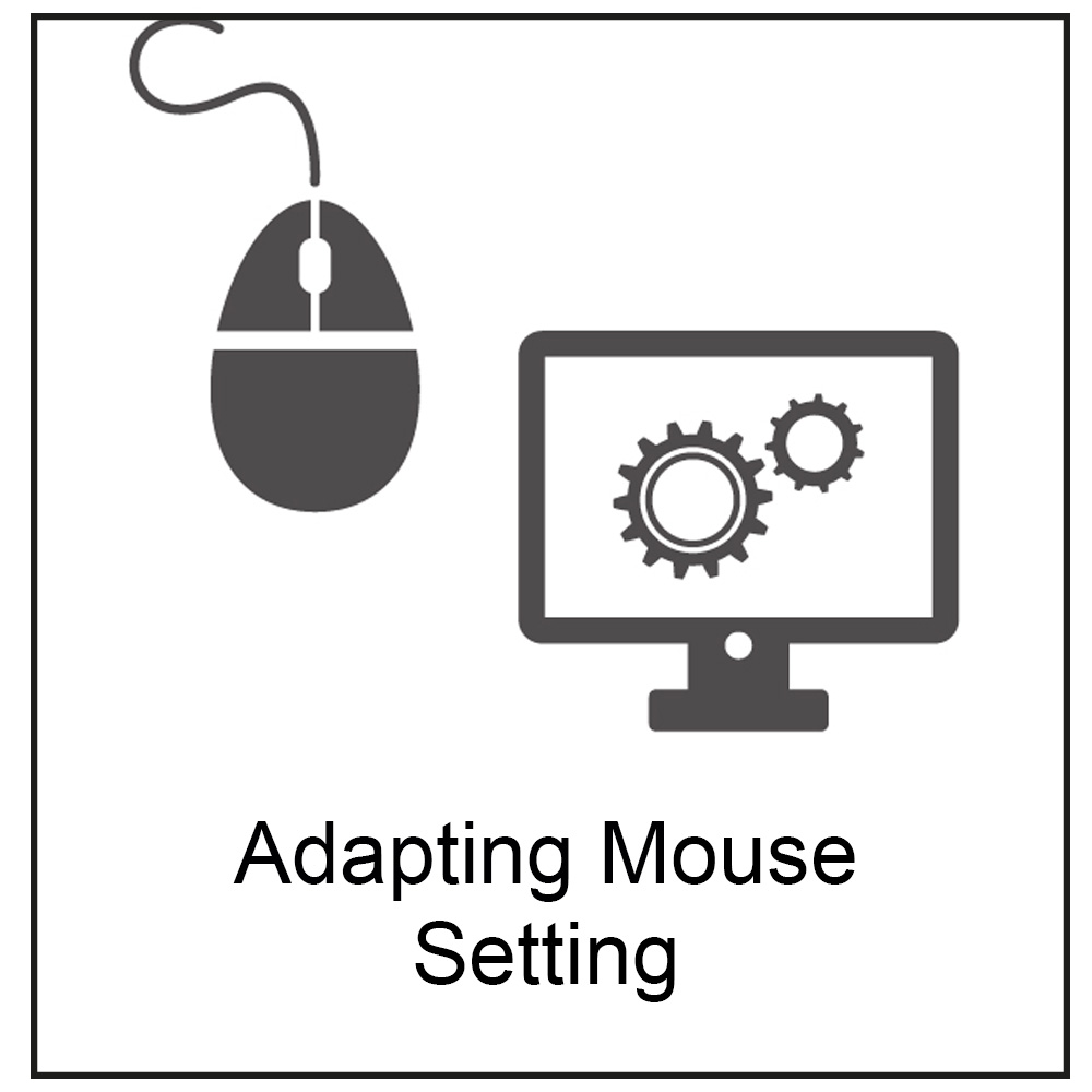 symbol of computer mouse and screen