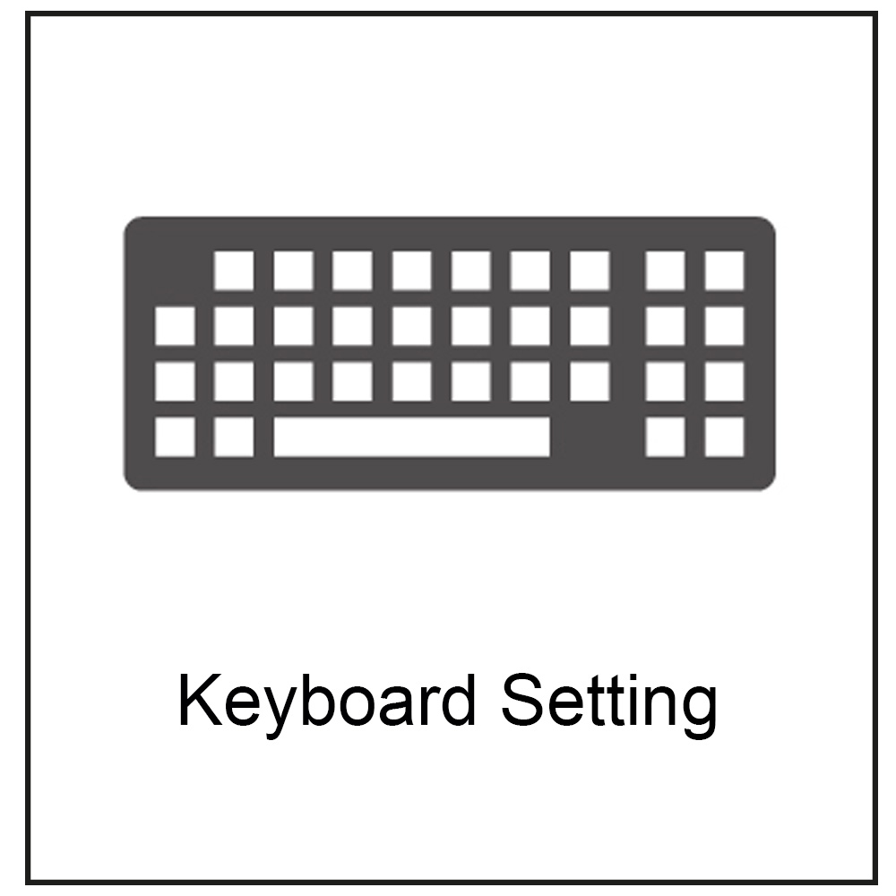 symbol of a keyboard
