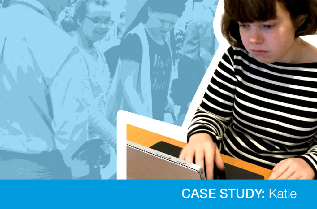 Case study image of girl with laptop