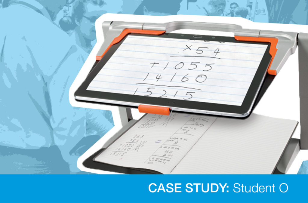 Case study graphic with AT device