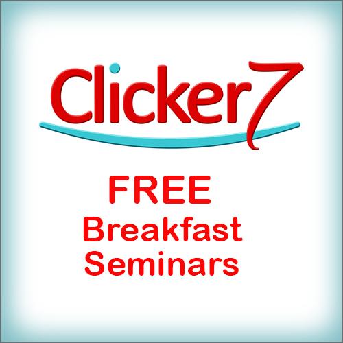 Box saying FREE breakfast seminars