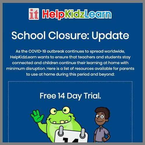 Help Kidz Learn website page