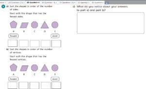 Sort the 2D shapes