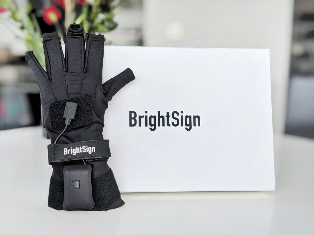 Brightsign glove and poster