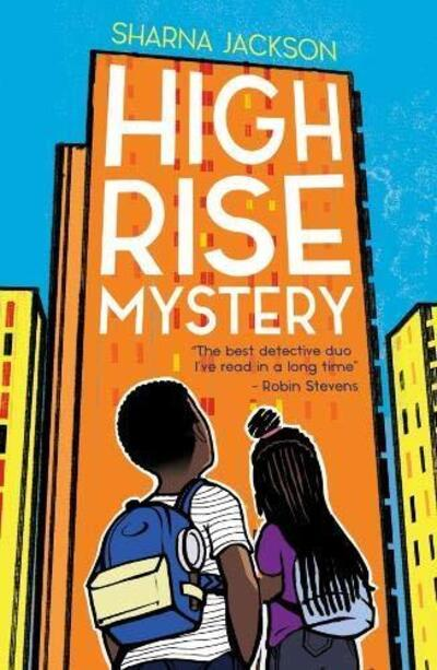 Cover of high rise mystery - two children looking at block of flats