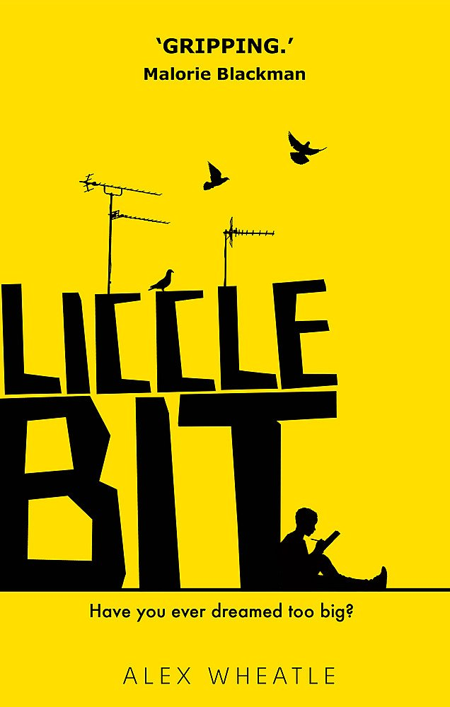 Liccle Bit cover with yellow background and black text