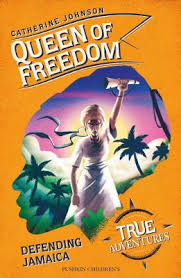 Queen of Freedom cover - woman running with arm in air