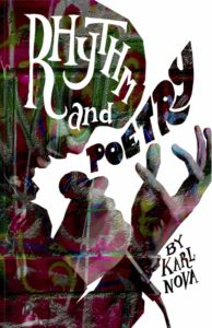 Cover of Rhythm and Poetry with face and hands of person