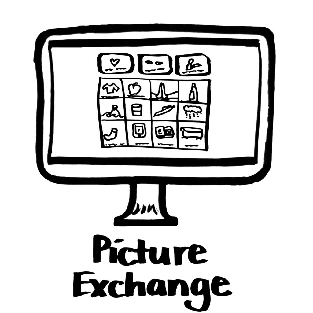 Illustration of a screen with text