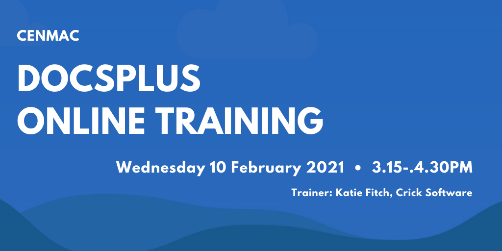 Blue graphic with text docsplus online training