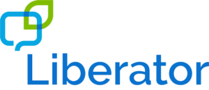 Blue and green logo - text Liberator