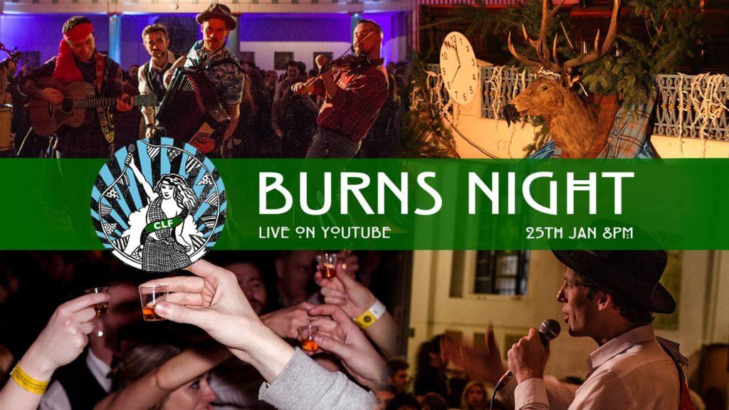 Collage of people celebrating Burns Night